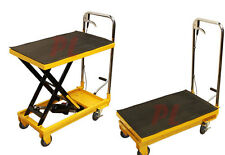"Heavy Duty Mobile 330LB Hydraulic Table Lift 9"" to 28"" Jack Cart *FREE SHIPPING*"