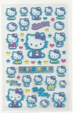 Sanrio Hello Kitty Stickers Hard Plastic Glitter Irredescent Stars Hearts