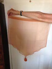 Deux rideaux voilage orange légèrement brillant oriental 60 x 66 cm comme neufs