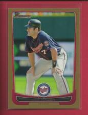 Joe Mauer 2012 Bowman GOLD Parallel Card # 87 Minnesota Twins Baseball MLB