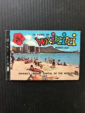 1971 Mini Album 10 Views Of Waikiki Hawaii Resort Capita Of World 1960s Pics E89