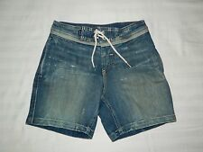 Youth Boys Quiksilver Street Trunk Denim Board Shorts Size 26/12 Blue