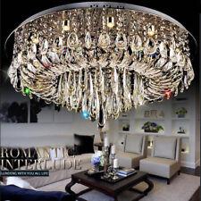 Modern Luxury LED Crystal round Pendant Light Ceiling lamp Chandelier Lighting