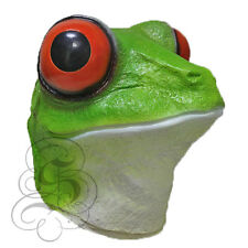 Latex Semi-Aquatic Red-Eyed Tree Frog Head Props Fancy Carnival Party Masks