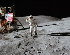 Apollo 16 Charles Duke Salut Flagge On Moon 8x10 Silber Halogen Fotodruck