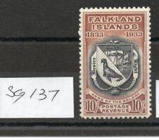 FALKLAND ISLANDS Centenary 1933 10/- SG137 lightly hinged fresh colours.