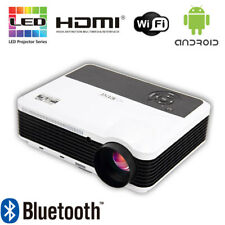 4500lms Android Bluetooth Wifi Projector Home Theater Cinema HDMI USB VGA 7500:1