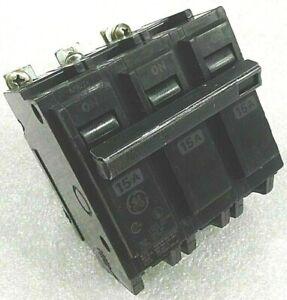 THQB32015 GE CIRCUIT BREAKER 3 POLE 15 AMP 240 VAC BOLT ON thqb (triple pole)