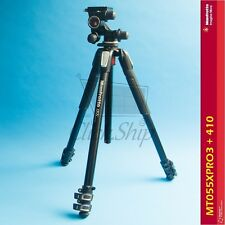 Manfrotto MT055XPRO3 Aluminum Tripod with 410 Junior Geared Head Kit