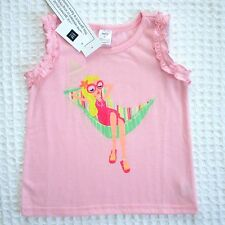 NEW GAP Kids Toddler Girls 4T Pink Sleeveless Pajama Top Flame Resistant