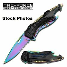 Tac Force Rainbow Linerlock A/O SPRING ASSISTED TACTICAL FOLDING POCKETKNIFE