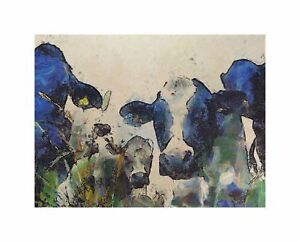 Nature Cow Cattle Farm Animal Home Picture Canvas Print