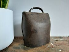 More details for vintage metal cow bell swiss large original forged substantial size old