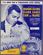 I'LL SING YOU A THOUSAND LOVE SONGS Warren Dubin CLARK GABLE Marion Davies
