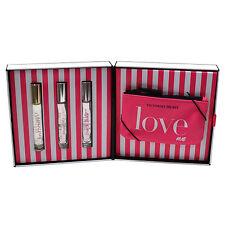 Victoria's Secret Gift Set 3 Pefume Rollerball Bombshell Heavenly Body Edp Bag