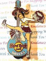 Hard Rock Cafe Dallas Cheerleader Pom Pom Girl Pin 2005 LE New # 31012