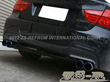 3D Carbon Fiber Rear Diffuser fit 06-11 BMW E90 3-Series M-Sport Bumper Only