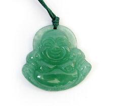 Green Jade Tibet Buddhist Laughing Buddha Amulet Pendant Talisman