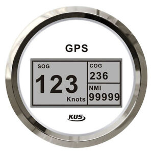 GPS Speedometer, KUS Boat Marine GPS Digital Speed Gauge, 85mm, Antenna Included