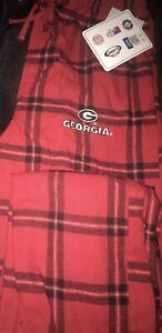 Georgia Bulldogs  Small Flannel Lounge Pajama Pants - Red/Black Concept Sports