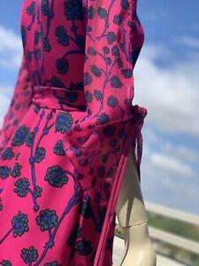 Diane Von Furstenberg Silk Chiffon Wrap Dress