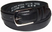 EMBARGO Mens Boys Kids 30mm Genuine Leather Lining Waist Belt