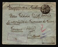 Germany 1917 POW Cover to France / Berlin / Top Creases - Z14333