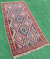 Turkish Kilim Rug 29''x68'' Handwoven Van Kilim 76x175cm Wool Vintage Area Rug