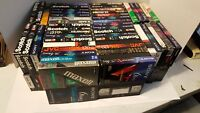 qty lot of 100 vhs cassette tapes sold as blanks t-120 6hrs previously recorded