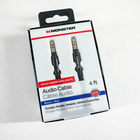 Monster Mobile 3.5mm Stereo Jack Male to Male 4 ft Aux Audio Cable