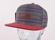 2017 NWT MENS ELEMENT LEATHER PATCH HAT $30 adjustable canteen green cap striped