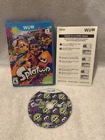 Splatoon (Nintendo Wii U, 2015) Tested & Works! CIB, Complete W/ Manual