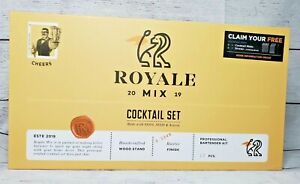 Royale 2019 11 Piece Mixology Bartender Kit with Rustic Stand