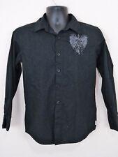 Buffalo David Bitton L Cotton L/S Black Design Front Left & Back         L13