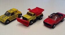 DIECAST MATCHBOX PEUGEOT 205 RALLY BMW 323i CABRIO & SNOW PLOUGH GRITTING PLOW