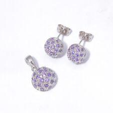 a6dc4bbb1e7e Amatista Plata Para Mujer Joyas Colgante de piedras preciosas Pendientes  Joyería Set NT301