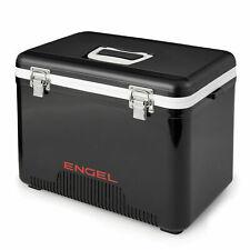 Engel 13 Quart 18 Can Leak Proof Odor Resistant Insulated Cooler Drybox, Black