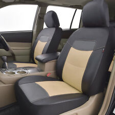 new arrival car seat covers front set deluxe PU leather car seat protectors TAN