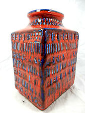 Beautiful 70´s Bodo Mans Design Bay Keramik pottery Vase 70 20 shiny red glaze