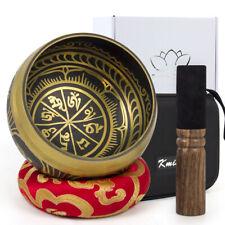 Singing Bowl Buddhism Tibetan Hammered Yoga Copper Meditation Chakra Wood Beater