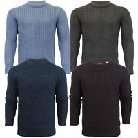 Mens Knitted Jumper Brave Soul Chunky Cable Pullover Sweater Crew Neck Winter