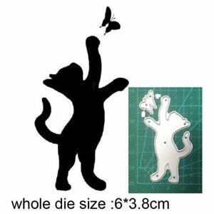 Craft dies metal cutting Stencils Cat catching Butterfly Scrapbooking Crafts