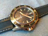 Zelos Swordfish Bronze 300m Diver NH35 'Black Sand' Watch - 42mm case