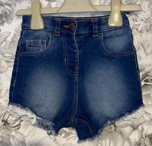 Girls Age 2-3 Years - Denim Shorts