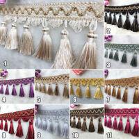 Curtain Tassel Fringe Trims Pom Pom Fabric DIY Ribbon Sewing Upholstery Decor 1M