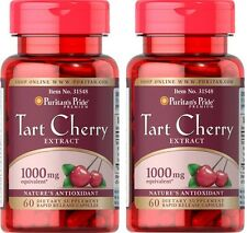 2X Tart Cherry Extract 1000 mg x 60 ( 120 ) Capsules **AMAZING PRICE **