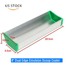 8 Aluminum Dual Edge Emulsion Scoop Coater For Screen Printing Free Shipping
