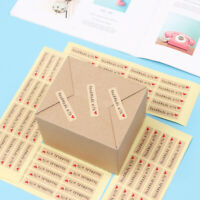 Day Gifts Kraft Paper Handmade Sticker Sealing Craft Gift Boxes Seal Label