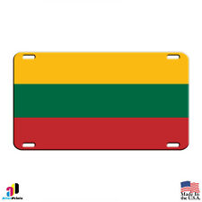 Lithuania Country Flag Aluminum Metal Novelty License Plate Tag