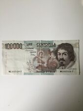 BANCONOTA 100000 LIRE CARAVAGGIO I° TIPO DECR/ 1 SETTEMBRE  1983 /SPL+